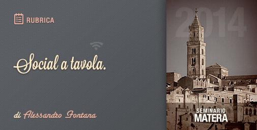Social a Tavola: Web Tourism Seminar Matera