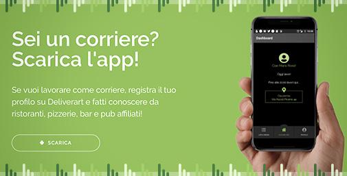 Deliverart Food Delivery Platform - App Corriere