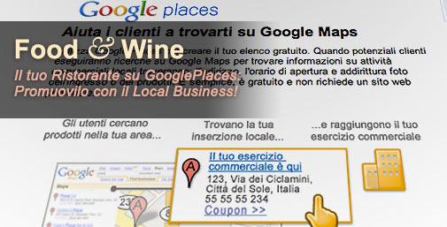 Ristoranti: Promuoversi con Google Places
