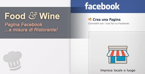 Ristoranti e Pagina Facebook personalizzata