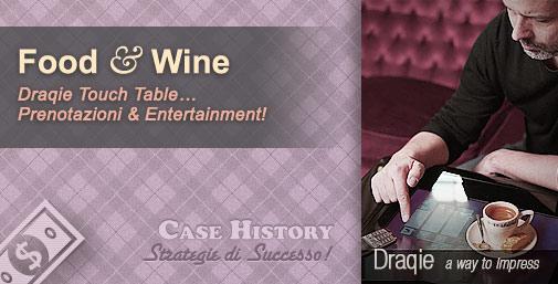 Draqie Touch Table - Ordinazioni Interattive