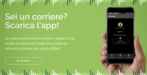 Deliverart Food Delivery Platform - App Corriere