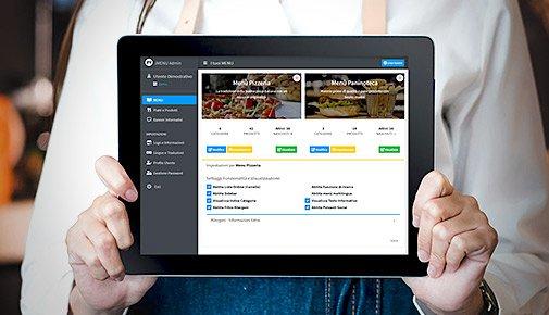JMENU: Menù Digitale Professionale - Dashboard